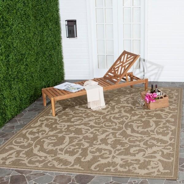 Safavieh Mayaguana Brown/ Natural Indoor/ Outdoor Rug - 8' x 11'
