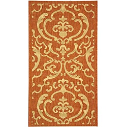 Safavieh Bimini Damask Terracotta/ Natural Indoor/ Outdoor Rug (2' x 3'7)