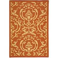 Safavieh Bimini Damask Terracotta/ Natural Indoor/ Outdoor Rug (2'7 x 5')