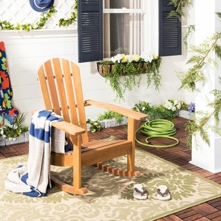 Safavieh St. Barts Damask Natural/ Olive Green Indoor/ Outdoor Rug (4' x 5'7)