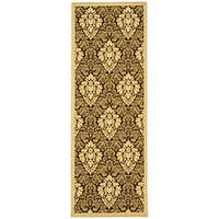 Safavieh St. Barts Damask Brown/ Natural Indoor/ Outdoor Runner (2'4 x 6'7)