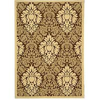 Safavieh St. Barts Damask Brown/ Natural Indoor/ Outdoor Rug (2'7 x 5') - 2'7 x 5'