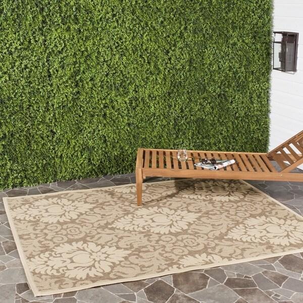 Safavieh St. Barts Damask Brown/ Natural Indoor/ Outdoor Rug (5'3 x 7'7)
