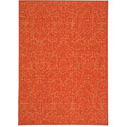 Safavieh Indoor/ Outdoor St. Barts Red Rug (4' x 5'7)