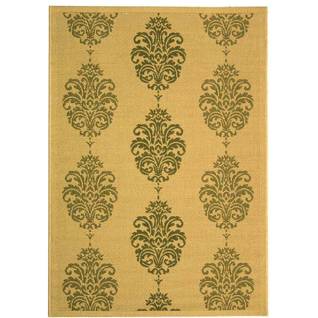 Safavieh Indoor/ Outdoor St. Martin Natural/ Olive Rug (7'10 x 11')