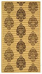 Safavieh St. Martin Damask Natural/ Brown Indoor/ Outdoor Rug (2' x 3'7) - Thumbnail 1