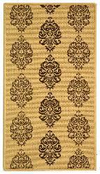 Safavieh St. Martin Damask Natural/ Brown Indoor/ Outdoor Rug (2' x 3'7) - Thumbnail 2