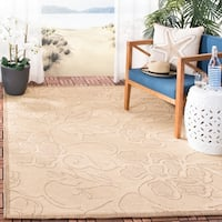 "Safavieh Aruba Natural/ Terracotta Indoor/ Outdoor Rug - 2'7"" x 5'"