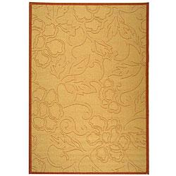 Safavieh Aruba Natural/ Terracotta Indoor/ Outdoor Rug (6'7 x 9'6)