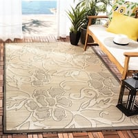 Safavieh Aruba Sand/ Black Indoor/ Outdoor Rug - 8' X 11'