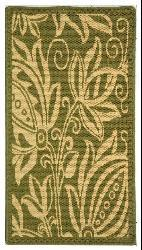 Safavieh Andros Olive Green/ Natural Indoor/ Outdoor Rug (2' x 3'7) - Thumbnail 2