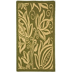 Safavieh Indoor/ Outdoor Andros Olive/ Natural Rug (2' x 3'7)