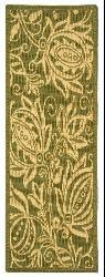 Safavieh Andros Olive Green/ Natural Indoor/ Outdoor Runner (2'4 x 6'7) - Thumbnail 1