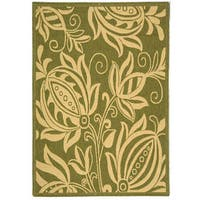 Safavieh Andros Olive Green/ Natural Indoor/ Outdoor Rug - 2'7 x 5'