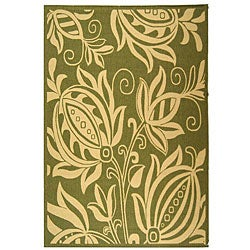 Safavieh Andros Olive Green/ Natural Indoor/ Outdoor Rug (5'3 x 7'7)