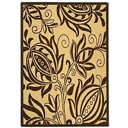 Safavieh Indoor/ Outdoor Andros Natural/ Brown Rug (2'7 x 5')