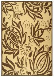 Safavieh Andros Natural/ Brown Indoor/ Outdoor Rug (5'3 x 7'7) - Thumbnail 1