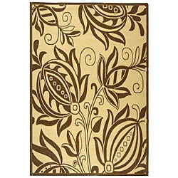 Safavieh Andros Natural/ Brown Indoor/ Outdoor Rug - 8' x 11' - Thumbnail 0