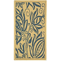 Safavieh Andros Natural/ Blue Indoor/ Outdoor Rug (2' x 3'7)
