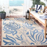 Safavieh Andros Natural/ Blue Indoor/ Outdoor Rug - 8' x 11'