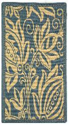 Safavieh Andros Blue/ Natural Indoor/ Outdoor Rug (2' x 3'7) - Thumbnail 1