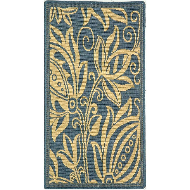 Safavieh Andros Blue/ Natural Indoor/ Outdoor Rug (2' x 3'7)