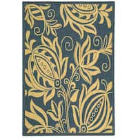 Safavieh Andros Blue/ Natural Indoor/ Outdoor Rug (2'7 x 5')