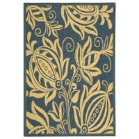 Safavieh Andros Blue/ Natural Indoor/ Outdoor Rug - 4' x 5'7