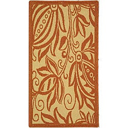 Safavieh Andros Natural/ Terracotta Indoor/ Outdoor Rug (2' x 3'7)