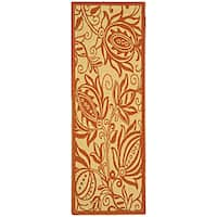Safavieh Andros Natural/ Terracotta Indoor/ Outdoor Runner - 2'4 x 6'7
