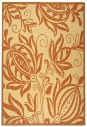 Safavieh Andros Natural/ Terracotta Indoor/ Outdoor Rug (6'7 x 9'6) - Thumbnail 2