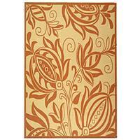 Safavieh Andros Natural/ Terracotta Indoor/ Outdoor Rug - 6'7 x 9'6