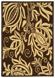 Safavieh Indoor/ Outdoor Andros Chocolate/ Natural Rug (2'7 x 5')
