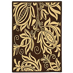 Safavieh Andros Chocolate/ Natural Indoor/ Outdoor Rug (4' x 5'7)
