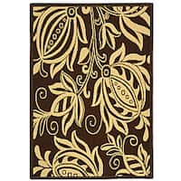 Safavieh Andros Chocolate/ Natural Indoor/ Outdoor Rug - 4' x 5'7