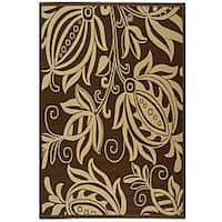 Safavieh Andros Chocolate/ Natural Indoor/ Outdoor Rug - 5'3 x 7'7