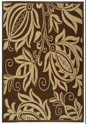 Safavieh Andros Chocolate/ Natural Indoor/ Outdoor Rug (8' x 11') - Thumbnail 1