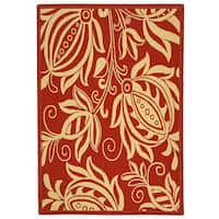 Safavieh Andros Red/ Natural Indoor/ Outdoor Rug (2'7 x 5') - 2'7 x 5'