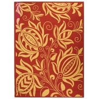 Safavieh Andros Red/ Natural Indoor/ Outdoor Rug - 8' X 11'