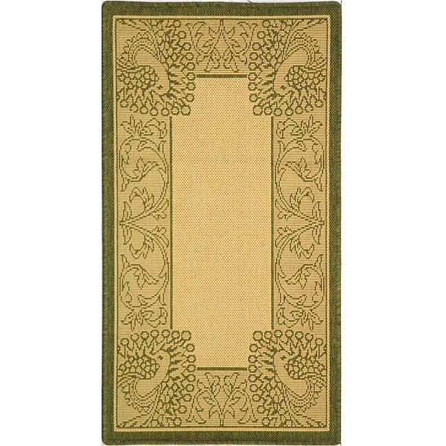 Safavieh Indoor/ Outdoor Abaco Natural/ Olive Rug (2' x 3'7)