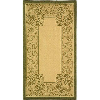 Safavieh Abaco Natural/ Olive Green Indoor/ Outdoor Rug (2' x 3'7)
