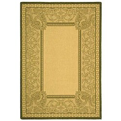 Safavieh Abaco Natural/ Olive Green Indoor/ Outdoor Rug (2'7 x 5')