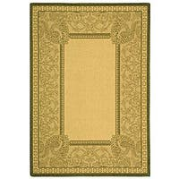 Safavieh Abaco Natural/ Olive Green Indoor/ Outdoor Rug - 2'7 x 5'