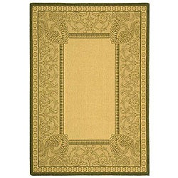 Safavieh Abaco Natural/ Olive Green Indoor/ Outdoor Rug (4' x 5'7)