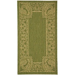 Safavieh Indoor/ Outdoor Abaco Olive/ Natural Rug (2' x 3'7)
