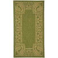 Safavieh Abaco Olive Green/ Natural Indoor/ Outdoor Rug - 2' x 3'7