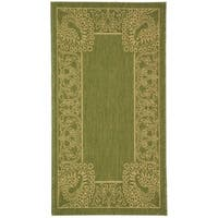 Safavieh Abaco Olive Green/ Natural Indoor/ Outdoor Rug - 2' x 3'-7""