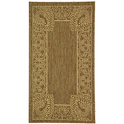 Safavieh Indoor/ Outdoor Abaco Brown/ Natural Rug (2' x 3'7)