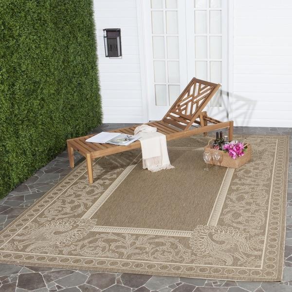 Safavieh Indoor/ Outdoor Abaco Brown/ Natural Rug (8' x 11')