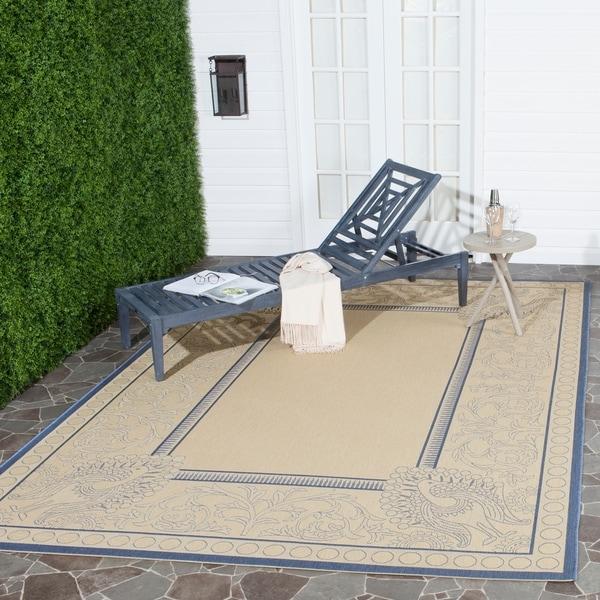Safavieh Abaco Natural/ Blue Indoor/ Outdoor Rug - 8' X 11'